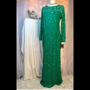 Elegant green formal